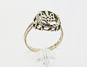 RI_UK-TR_0058_G | 14kt Gold Ukrainian Tryzub Ring