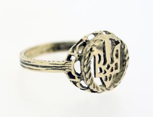 RI_UK-TR_0058_G | 14kt Gold Ukrainian Tryzub Ring