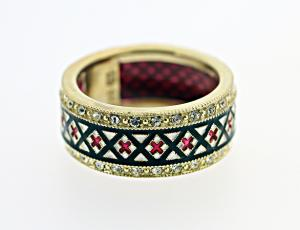 RI_UK-RU_ST3 | Gold Rushnyk Wedding Ring