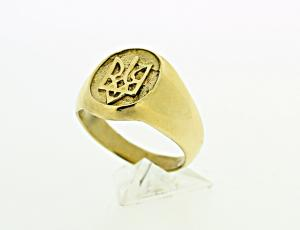 RI_UK-TR_0106_G - 14kt Gold Ukrainian Tryzub Ring