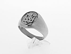 RI_UK-TR_0106_S - Sterling Silver Ukrainian Tryzub Ring