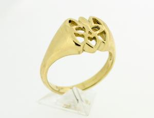 RI_UK-TR_0119-2-72-G | 14kt Gold Ukrainian Tryzub Ring