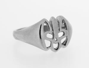 RI_UK-TR_0119-S | Sterling Silver Ukrainian Tryzub Ring