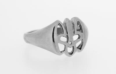 RI_UK-TR_0119-S | Sterling Silver Ukrainian Tryzub Ring