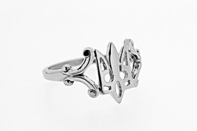 .925 Sterling Silver Ukrainian Tryzub Ring
