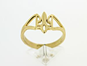 RI_UK-TR_0122 - 14kt Gold Wire Tryzub Ring