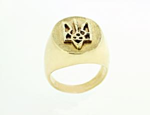 RI_UK-TR_0131 - 14kt Gold Ukrainian Tryzub Ring
