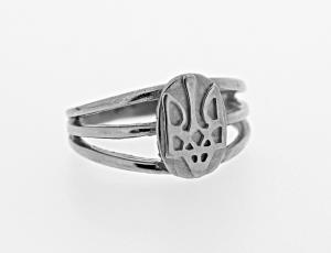 RI_UK-TR_0138 - Sterling Silver Oval Tryzub Ring