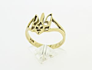 RI_UK-TR_0225-72-G | 14kt Gold Ukrainian Tryzub Ring