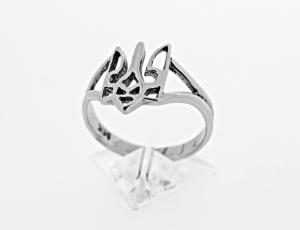 RI_UK-TR_0225-72-S | .925 Sterling Silver Ukrainian Tryzub Ring