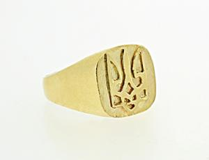 RI_UK-TR_0250_2-72 - 14kt Gold Ukrainian Tryzub Ring