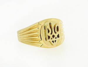 RI_UK-TR_0252 - 14kt Gold Ukrainian Tryzub Ring
