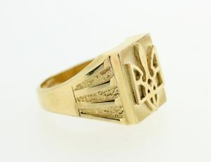RI_UK-TR_0256 - 14kt Gold Ukrainian Tryzub Ring