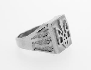RI_UK-TR_0256_2-72-S - .925 Sterling Silver Ukrainian Tryzub Ring