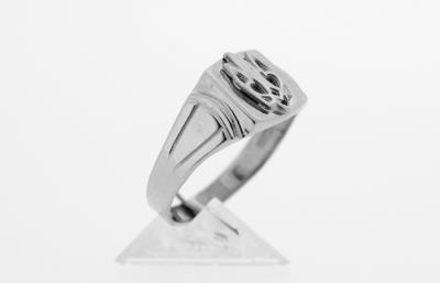 RI_UK-TR_0252_S   .925 Sterling Silver Ukrainian Tryzub Ring
