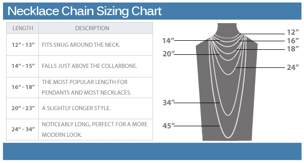 Necklace Chain Sizing Chart