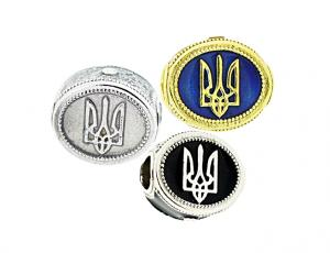 TF-CS Ukrainian Tryzub Eternity Bead