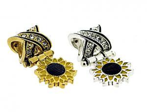 Dangling Sunflower Pandora-Style Eternity Bead