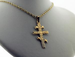 Gold Heart Saint Andrew Cross (Medium)