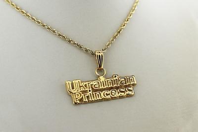 Gold Ukrainian Princess Pendant