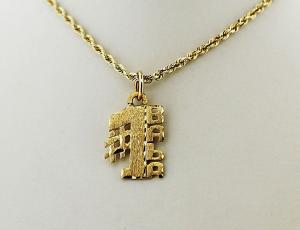 Gold #1 Ukrainian Grandmother (BABA) Pendant