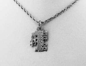 Silver #1 Ukrainian Grandmother (BABA) Pendant