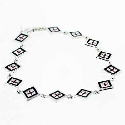Silver Square Rushnyk Bracelet