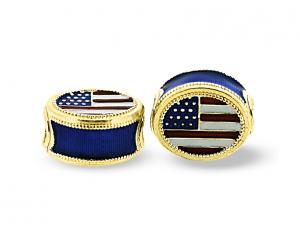 American Flag Gold Plated Eternity Bead