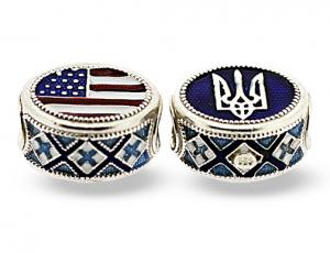 BR_ET-BE_UA_DB-S-72 - Ukrainian American Pandora-Style Eternity Bead