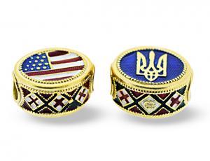 BR_ET-BE_UA_RE-G-72 - Ukrainian American Pandora-Style Eternity Bead