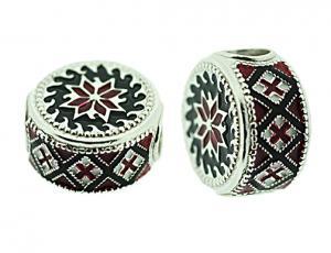 DR_BK_S-72 - Ukrainian Rushnyk Pandora-Style Eternity Bead