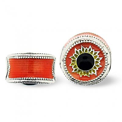 SU_OR_S-72 - Sunflower Pandora-Style Eternity Bead