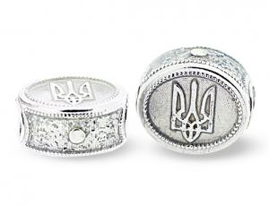 TF-CS_SP-S - Ukrainian Tryzub Pandora-Style Eternity Bead