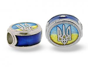 TF-UF_CS-DB-S-72 - Ukrainian Rushnyk Pandora-Style Eternity Bead