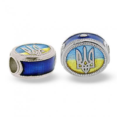 TF-UF_CS-DB-S-72 - Ukrainian Rushnyk Pandora-Style Eternity Bead