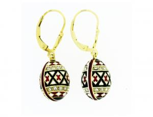 EA_EG_UK-PY-HO - Gold and Silver Pysanka Faberge-style Earrings