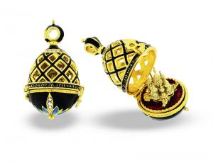 PE_EG_RE_STB1-BK - Religious Faberge-Style Egg Pendant
