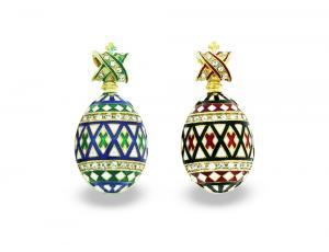 PE_EG_UK-PY-HO-CR - Ukrainian Pysanka Faberge-Style Egg Pendant