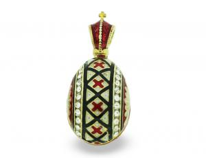 PE-EG_UK-PY-V_BK-RE - Ukrainian Faberge Egg Pysanka Pendant