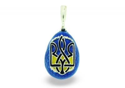 PE_EG_UK-RE_138-B - Ukrainian Faberge Egg Religious Pendant