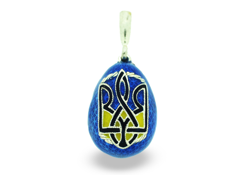 PE_EG_UK-RE_138-B - Ukrainian Faberge Egg Religious Pendant