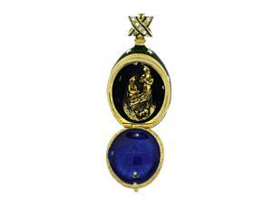 PE_EG-RE_STAR - Faberge Egg Style Religious Pendant