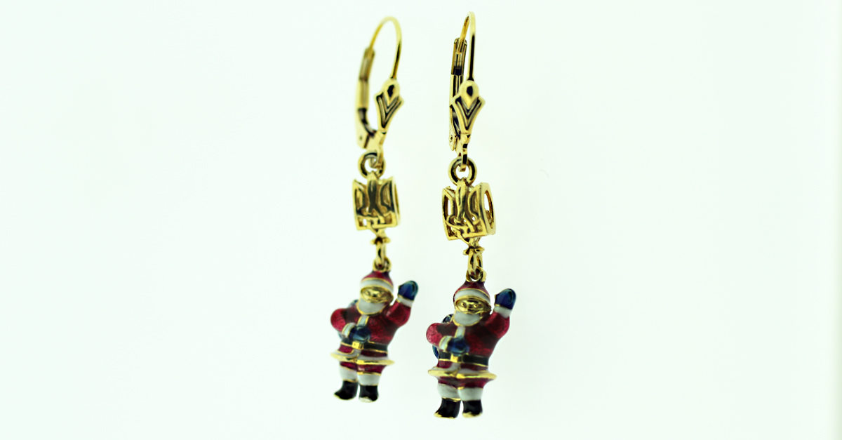 EA_UK-TR_2403 - UKRAINIAN SANTA EARRINGS