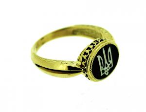 RI_UK-TR_2800-G - Gold Tryzub Ring