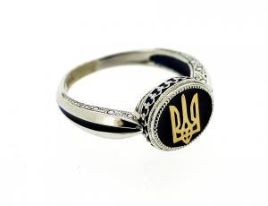 RI_UK-TR_2800-S - Sterling Silver Tryzub Ring