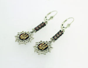 Sterling Silver Ukrainian Sunflower Earring