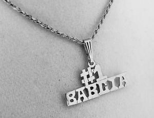 Sterling Silver Polish Pendant for Necklace - #1 Babcia