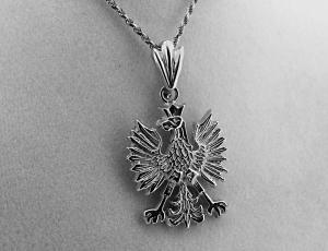Sterling Silver Polish Eagle Pendant for Necklace