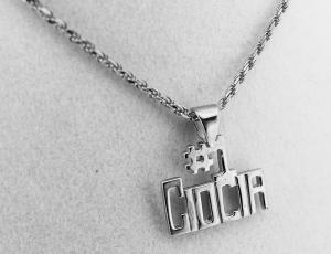 Sterling Silver Polish Pendant for Necklace - #1 Ciocia