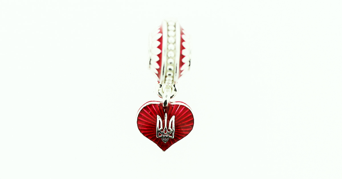Ukrainian Love Silver Eternity Bead